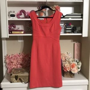 Maggie London Orange fitted dress